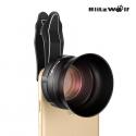 HD 3X telefono objektyvas Blitzwolf su universaliu laikikliu ir objektyvo gaubtu