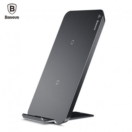 Dvigubas bevielis telefono pakrovėjas - stovas  (Qi wireless charging)  Baseus