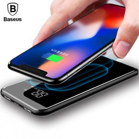 Bevielis telefono įkroviklis ir išorinė 8000mah baterija (Power bank) viename BASEUS, 2A,  2XUSB
