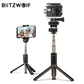Bluetooth asmenukių lazda (selfie stick) Blitzwolf Sport, trikojė, su pulteliu