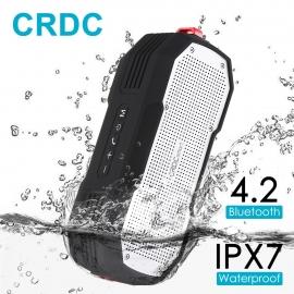 Bevielė (Bluetooth), atspari drėgmei, nešiojama kolonėlė CRDC IPX7 su AUX jungtimi
