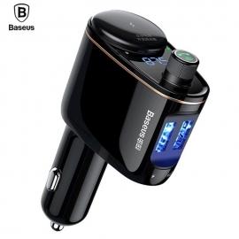 Automobilinis  FM moduliatorius, 3,4A USB įkroviklis, USB MP3 grotuvas su Bluetooth 4.2 laisvų rankų funkcija BASEUS S06
