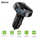 Automobilinis  FM moduliatorius, 3.4A USB įkroviklis, USB/micro SD MP3 grotuvas su Bluetooth 4.2 laisvų rankų funkcija BASEUS