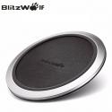 Bevielis greito krovimo telefono pakrovėjas (Fast Charge Qi Wireless Charger) Blitzwolf su LED ir odos padu