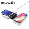 Bevielis greito krovimo telefono dvigubas pakrovėjas - stovas (Fast Charge Qi Wireless Charger) Blitzwolf