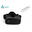 Virtualios realybės akiniai AUKEY + Bluetooth pultelis (baltas)