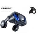 Virtualios realybės (VR) akiniai VRG PRO+ su ausinėmis ir pakraunamu bluetooth pulteliu R1