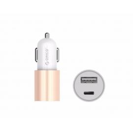 Automobilinis USB 2.0 ir USB Type-C kroviklis ORICO