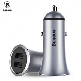 Automobilinis metalinis įkroviklis 2xUSB BASEUS 3.1A