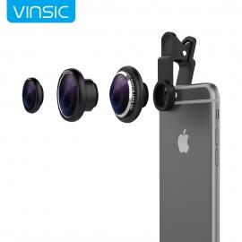 3-jų foto objektyvų rinkinys telefonui VINSIC