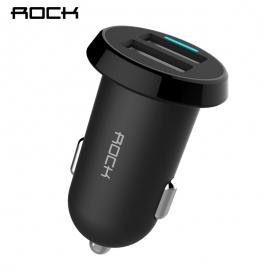 Automobilinis 2-jų USB jungčių telefono mini įkroviklis Rock Ditor  2.4A