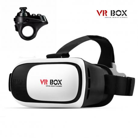 Virtualios realybės akiniai VR BOX 2 su pakraunamu Bluetooth pulteliu R1