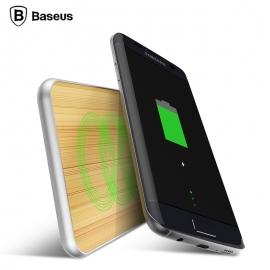 Bevielis telefono pakrovėjas BASEUS Flare su aliuminio ir bambuko apdaila
