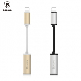 Apple Iphone Lightning - 3.5 mm AUX adapteris BASEUS su aliumininio apdaila