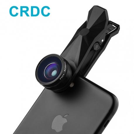 3-jų foto objektyvų rinkinys telefonui CRDC Fisheye + Wide angle + Macro