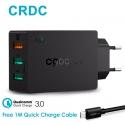 Universalus greito krovimo 3-jų USB jungčių telefono įkroviklis CRDC su QS 3.0, 43W