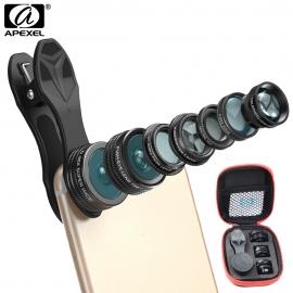 7-jų objektyvų rinkinys telefonui APEXEL su dėklu