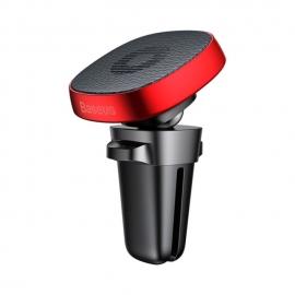 Automobilinis magnetinis telefono laikiklis BASEUS į groteles su reguliuojama galva ir odos padu