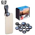 10-ties objektyvų (foto lešių) rinkinys telefonui APEXEL su dėklu